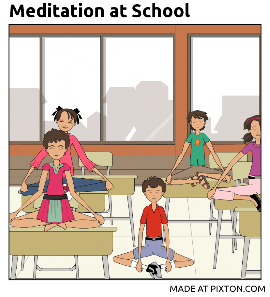 Pixton_Comic_Meditation_at_School_by_Yogini