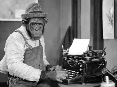 TYPEWRITING CHIMPANZEE